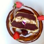 Chokolade, chokolade, chokolade. Min medspiser fik denne dessert som var et kæmpe hit