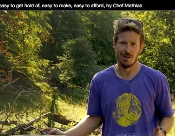 Et screen dump fra videoforelæsningen af Mathias Holt, der fortæller om udviklingen af den nye nordiske diæt.