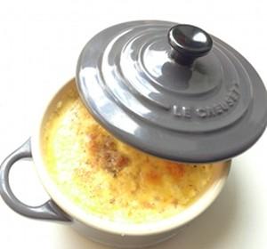 Denne udgave er lavet i en Le Creuset mini gryde, men den laves normalt i ramekiner