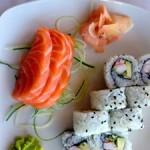 sashimi og maki ved V&A Waterfront
